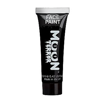 Moon Terror - Halloween Face Paint for the Face & Body - 12ml - Create spooky face paint designs! Perfect for vampire, ghost, skeleton, witch, pumpkin, monster etc - Midnight Black