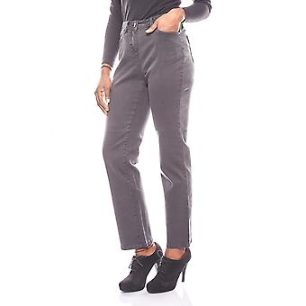 CORLEY just elastic women of jeans into the worn look short size grey
