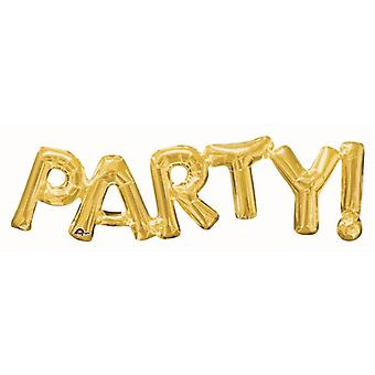 Balloon Letters-PARTY Gold