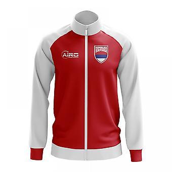 República Srpska concepto fútbol pista chaqueta (rojo)