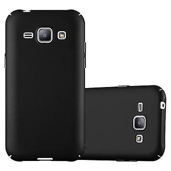Cadorabo Hülle für Samsung Galaxy J1 2015 - Hardcase Handyhülle im Matt Metal Design - Schutzhülle Bumper Back Case Cover
