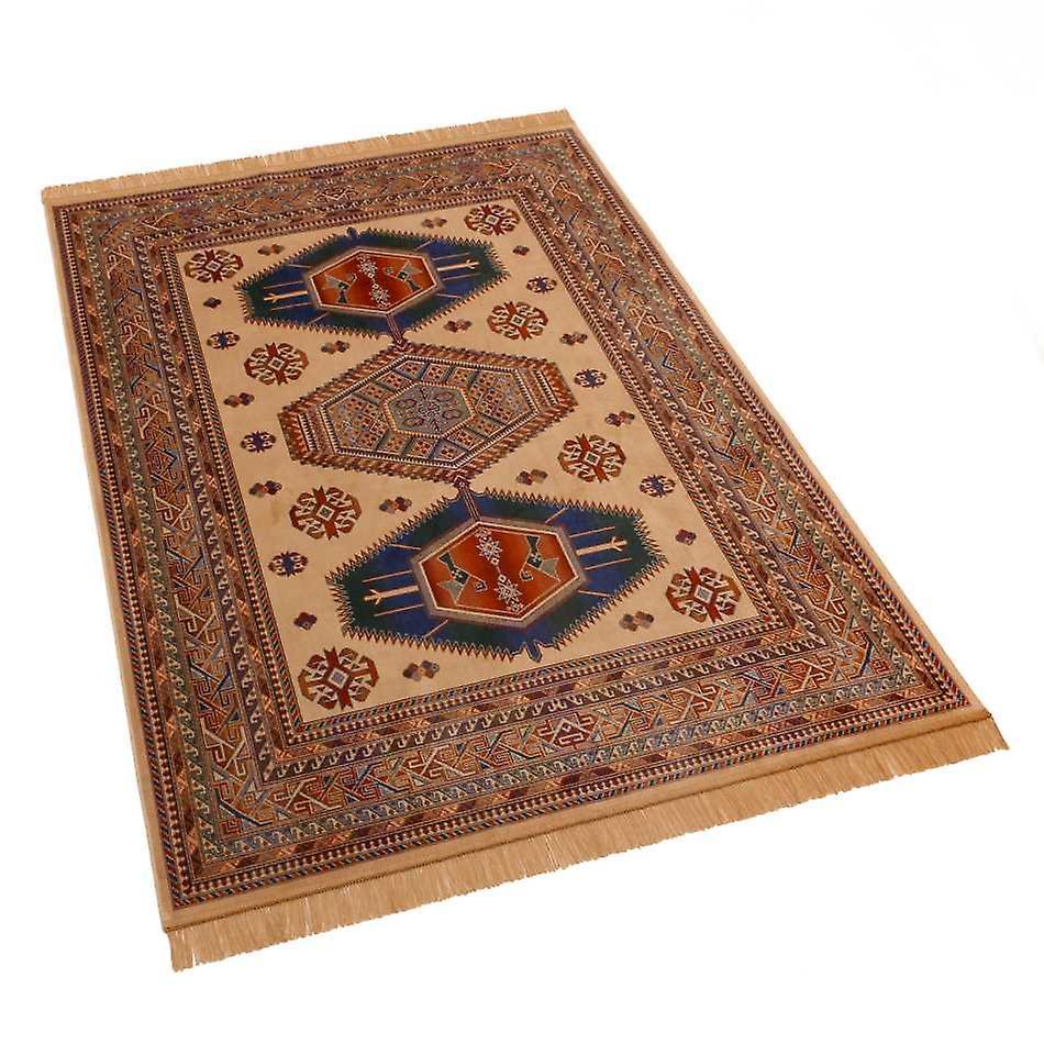 Afghan Kazak Artsilk Faux Silk Effect Rugs 9379/4 140 x 200cm