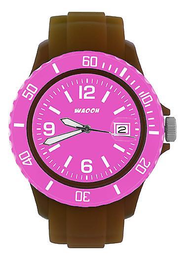 Waooh - Mostra MONACO38 Brown dial & lunetta colore
