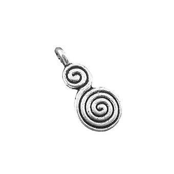 Packet 10 x Antique Silver Tibetan 17mm Celtic Swirl Pagan Charm/Pendant ZX03350