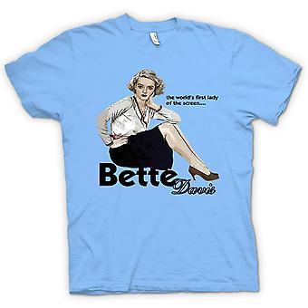 Heren T-shirt - Bette Davis 1e Lady - klassieke film