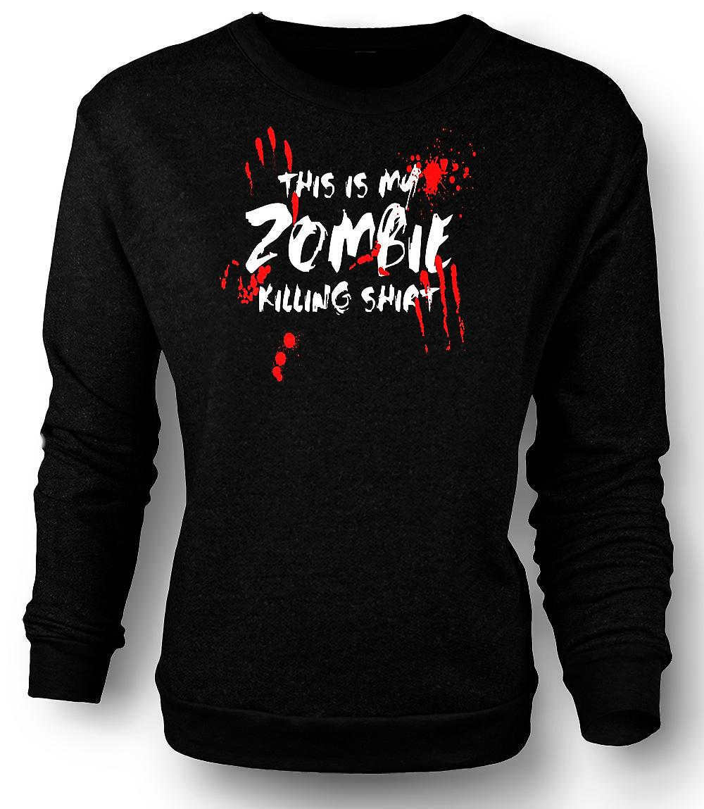 Mens Sweatshirt dit Is mijn Zombie Killing - grappig