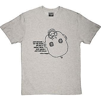 Alice Cooper muñecas citan camiseta hombres