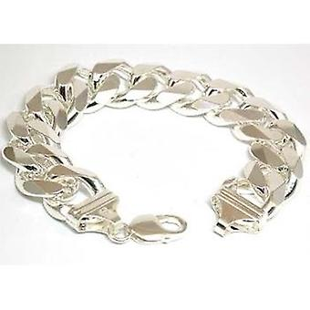 The Olivia Collection Sterling Silver Gents Open Curb 63.0 Gram Bracelet
