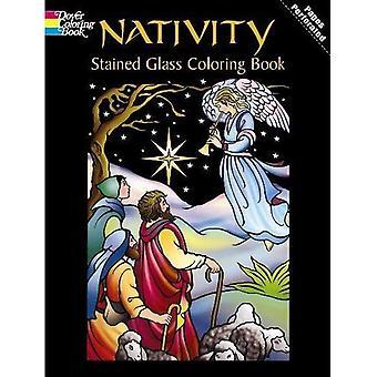 Libro da colorare vetrate Natività: Vol 1 [illustrato]