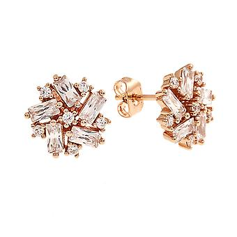 Bertha Juliet Collection Women's 18k RG Plated Cluster Stud Fashion Earrings