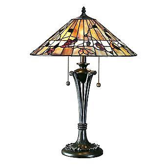 Medio de Bernwood estilo Tiffany lámpara de mesa - interiores 1900 63951