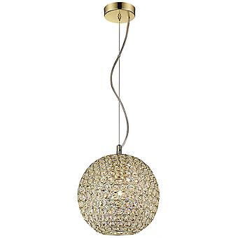 Spring Lighting - Colchester Polished Brass Round Pendant  BSDI025QC1QFOE