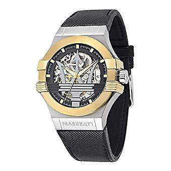 Maserati leather strap men's watch Automatic Analog _ R8821108011