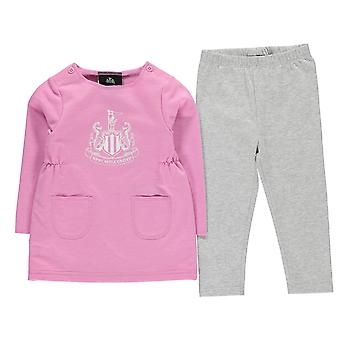 NUFC Kids Girls Logo Dress Set Baby Rompers Sleep Suit Long Sleeve Crew Neck