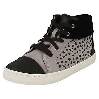 Boys Clarks Spotty Detail Ankle Boots City Vine Hi