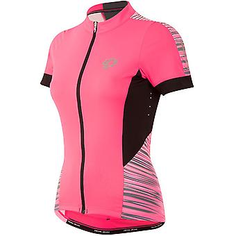 Pearl Izumi Screaming Pink Rush Elite Pursuit Womens Short Sleeved Cycling Jerse