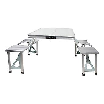 Gelert Unisex Aluminium Table and Stool Set