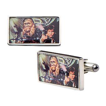Star Wars Han Solo and Chewbacca Cufflinks