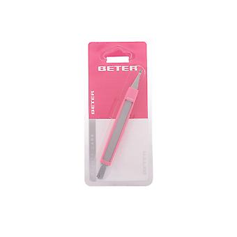 CUTICLE CUTTER with cuticle pusher and nail file