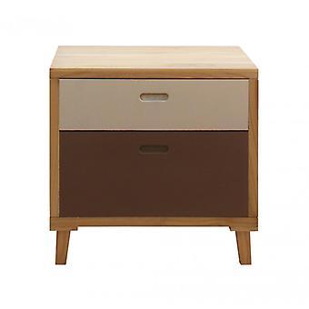 Furniture Rebecca Cassetti Comodino 2 Drawers Urban Brown Wood 58x60x45