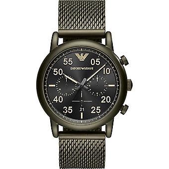 Orologio da uomo Emporio Armani Ar11115 verde in acciaio inox mesh