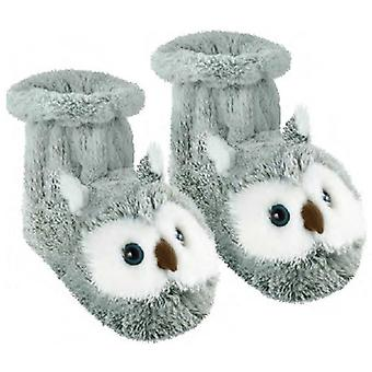 Aroma Home Fun For Feet Novelty Slipper Socks: Grey Owl