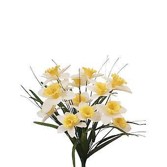 Artificial Silk Daffodil Bush