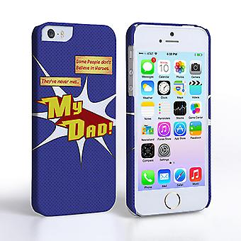 Caseflex My Dad eroe Cartoon iPhone 5 e 5S Case – Blue