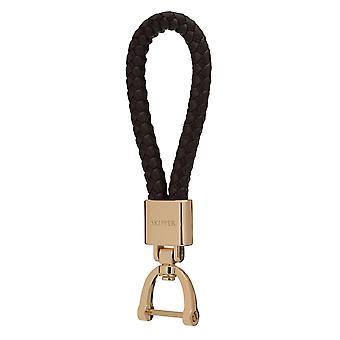 Schipper hanger sleutelhanger leder/nylon goud/bruin 8053