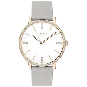 Coach | Womens | Audrey | Grey Leather Strap | White Dial | 14503352 Watch