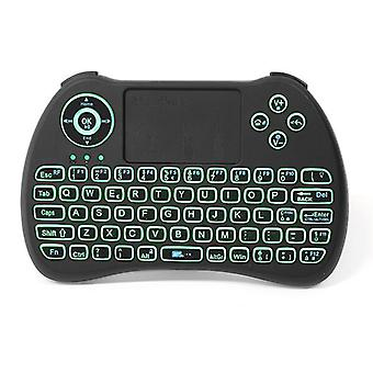 Ipazzport kp-810-21q 2.4g wireless n three color backlit mini keyboard touchpad air mouse