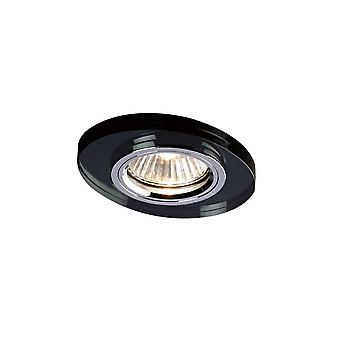 Diyas Crystal Downlight Oval Rim Only Black, IL30800 Required To Complete The Item