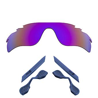 Lenses Kit Compatible with OAKLEY Vented RADARLOCK PATH Purple & Navy