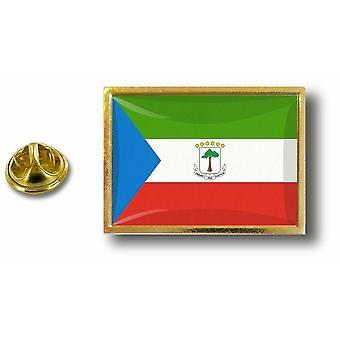 Pins Pin Badge Pin's Metal  Avec Pince Papillon Drapeau Guinee Equatoriale