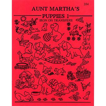 Aunt Martha's Iron On Transfer Books Puppies Tpb 354