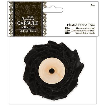 Papermania Midnight Blush Pleated Fabric Trim 1M Pma 358383