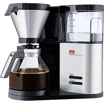 Coffee maker Melitta Aroma Elegance Stainless steel (brushed), Black Cup volume=10