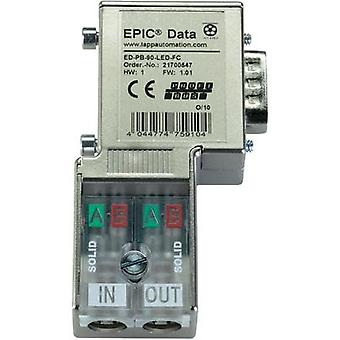 LappKabel 21700547 EPIC® ED-PB-90-PG-LED-FC EPIC Data PROFIBUS Plug Connector With Fast Connection Plug, right angle -