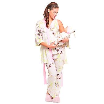 Rose 5-Piece Nursing PJ Set with Baby Outfit