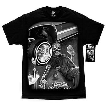 DGA Tees David Gonzales kunst tatovering Showtime Herre sort Tshirt bil