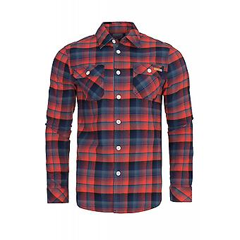 CHIEMSEE Orwe shirt men's Plaid Shirt red 2021301