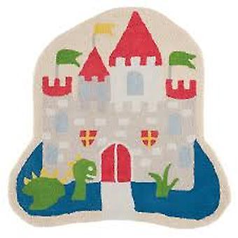 Kids Medieval Castle & Dragon Bedroom Rug