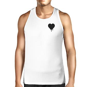 Melting Heart Men's Tanks Heart Printed Chest Size Graphic  For Him