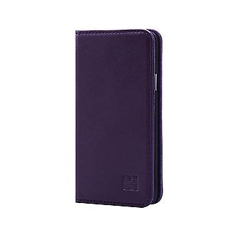 32nd Classic Real Leather Wallet for Samsung Galaxy A3 (2016) SM-A310 - Aubergine