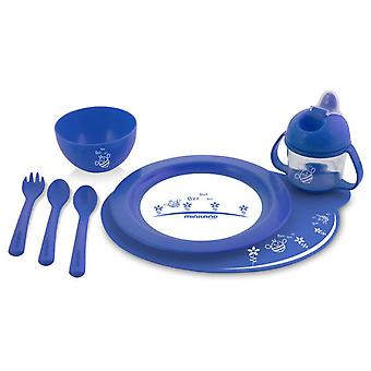 Miniland Meal Set Blue (Babies and Children , Time to eat , Kitchenware)
