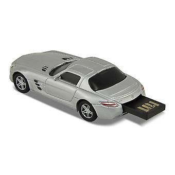 Officielle Mercedes-Benz SLS AMG bil USB Memory Stick 16Gb - sølv