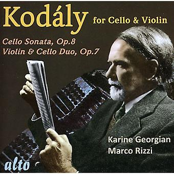 Z. Kodaly - Kod Ly for Cello & Violin [CD] USA import