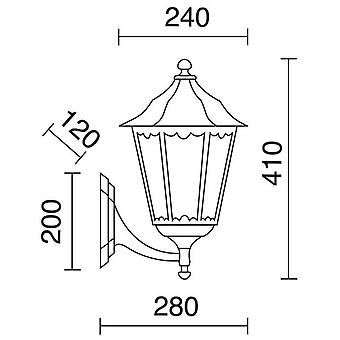 Dopo Wall Light Pin Ip43 100W E27 Bk. Cri.Mat