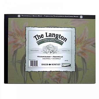 Daler Rowney Langton 140lb Gummed Watercolour (Hot Pressed) Pad 14 X 10