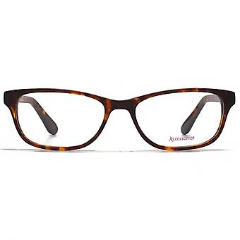 Accessorize Glam Rectangle Glasses In Tortoiseshell